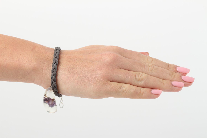 Handmade botanical jewelry stylish woven bracelet unusual wrist jewelry photo 6