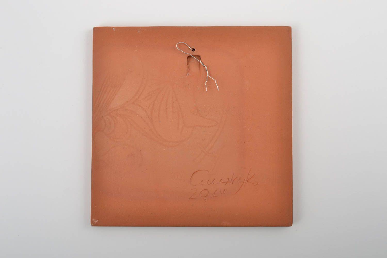 MADEHEART > Handmade dekorative Wandplatte aus Ton mit Bemalung ...