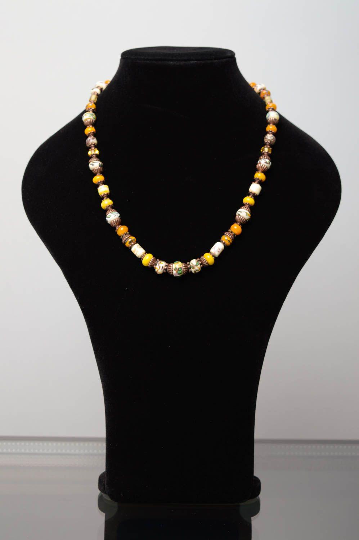 Collier aus Perlen Lampwork foto 2
