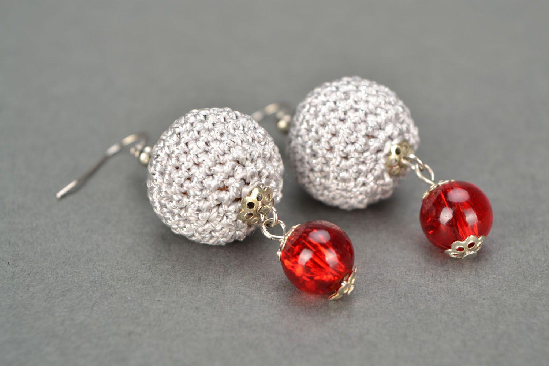 Crocheted earrings photo 4