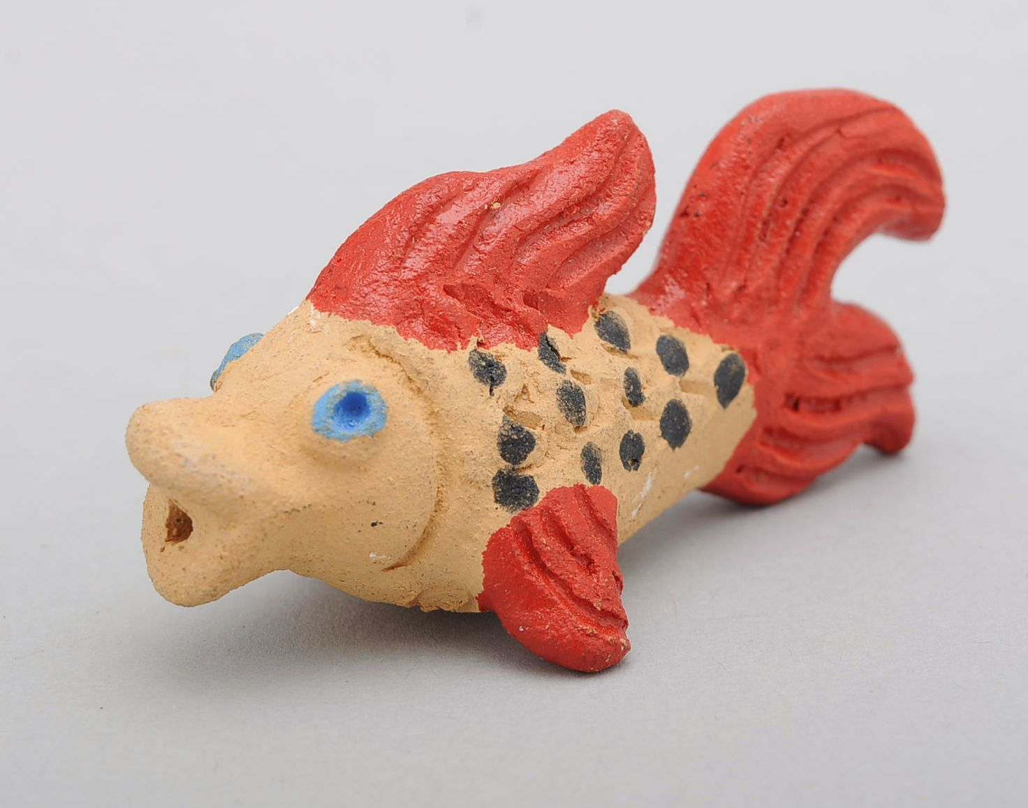 Clay penny whistle Small fish photo 2