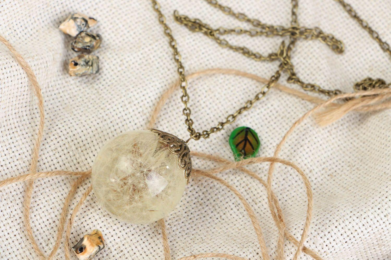 Pendant with dandelion  photo 1