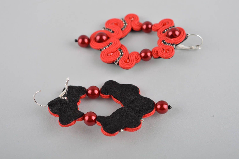 Unusual handmade soutache earrings beaded earrings artisan jewelry designs photo 5