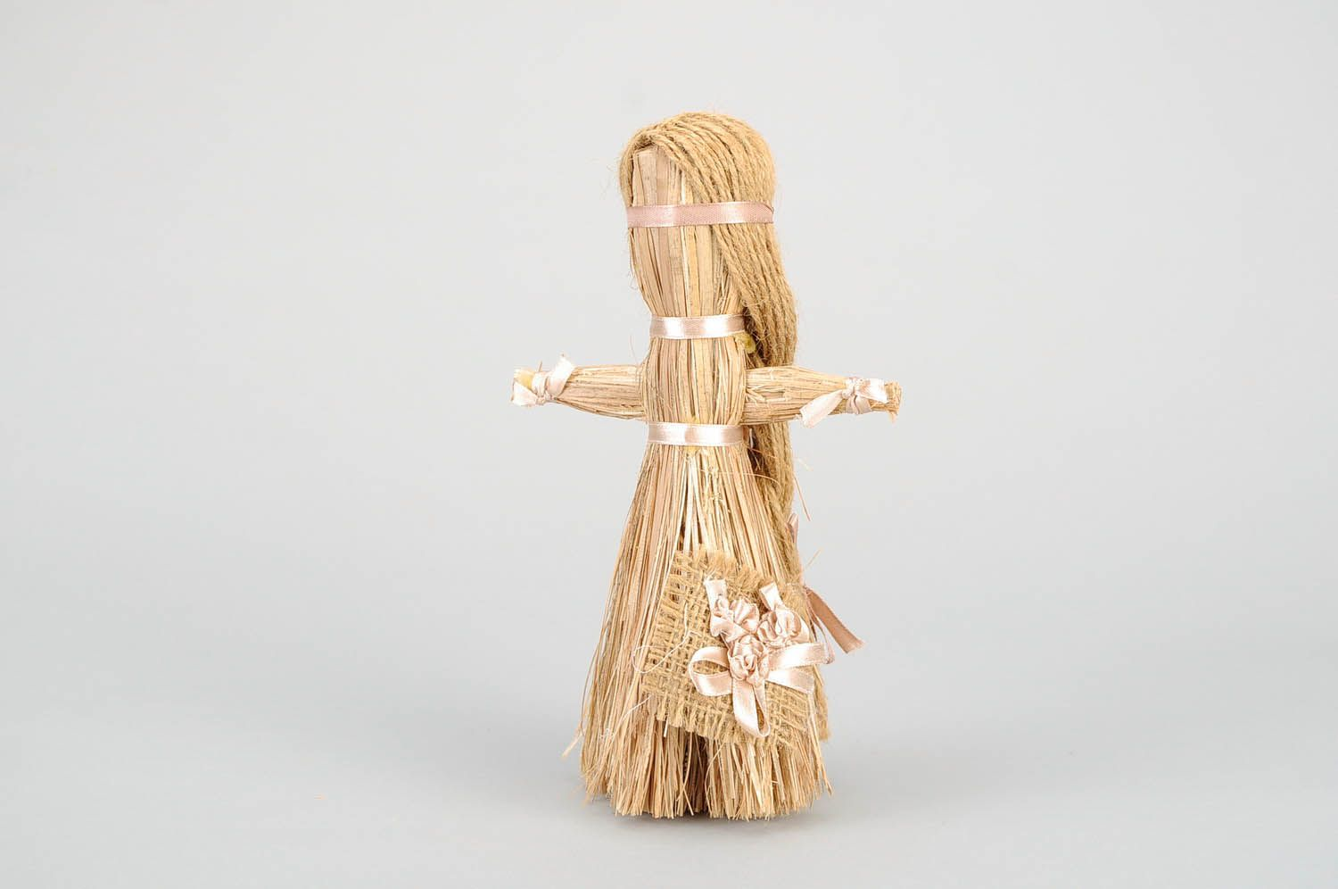Amulet doll made of cattail photo 3