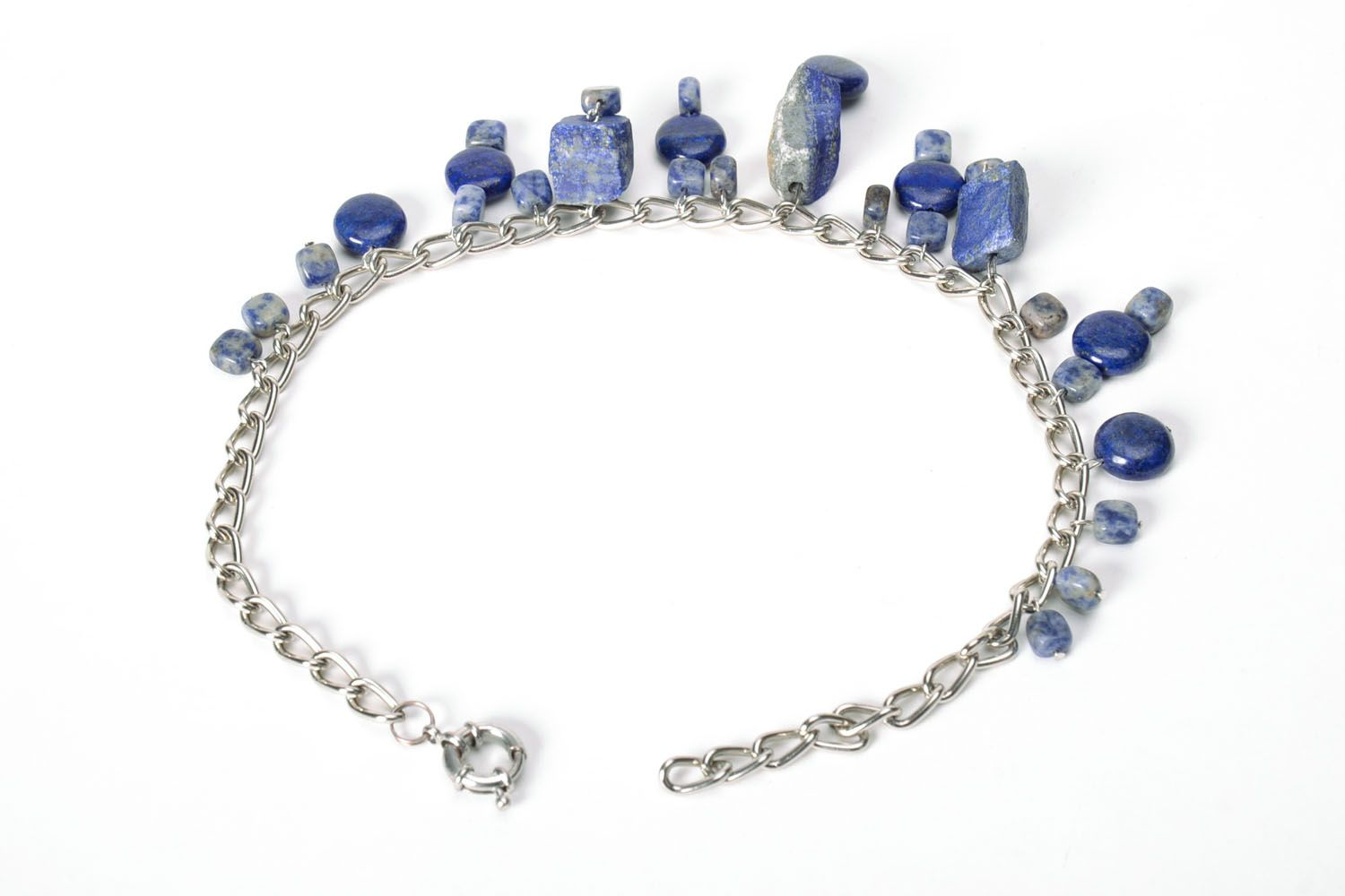 Necklace with lazurite photo 3