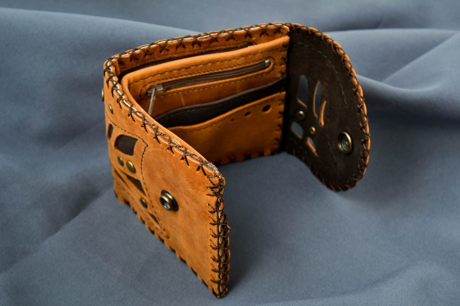Handmade leather wallet mens wallet handmade leather goods mens accessories