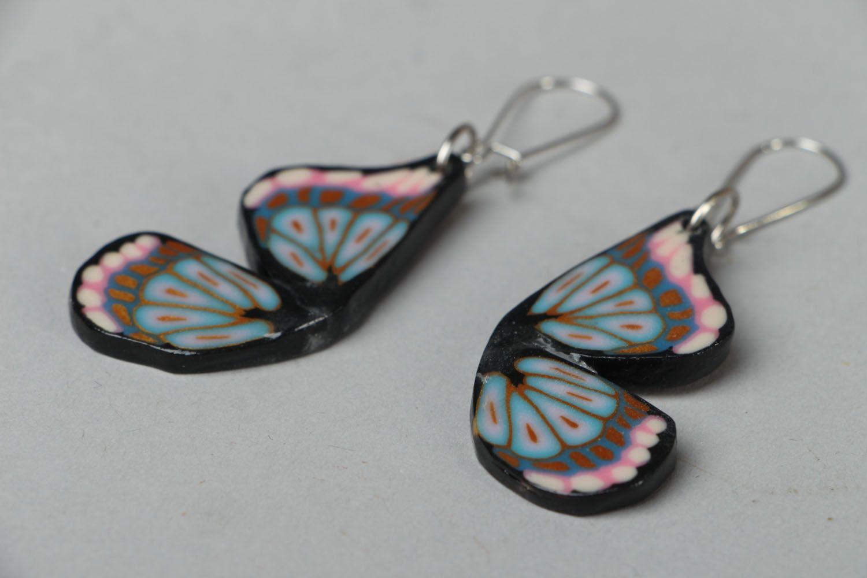Graue Ohrringe aus Polymer Ton foto 2