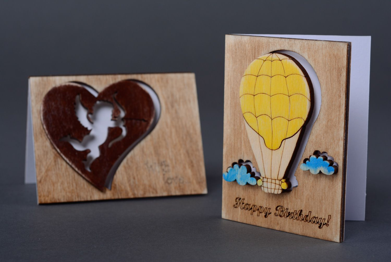 birthday Plywood greeting card for birthday - MADEheart.com