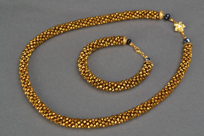 Beaded jewelry set Desert photo 4