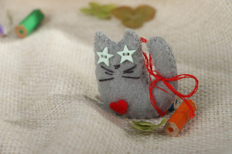 Homemade felt magnet Star Cat photo 5