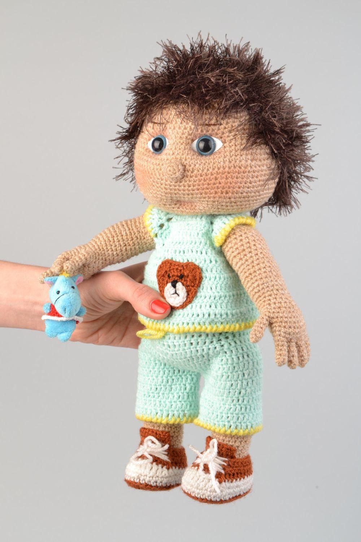 MADEHEART > Мягкие вязаные игрушки девочка и мальчик ...