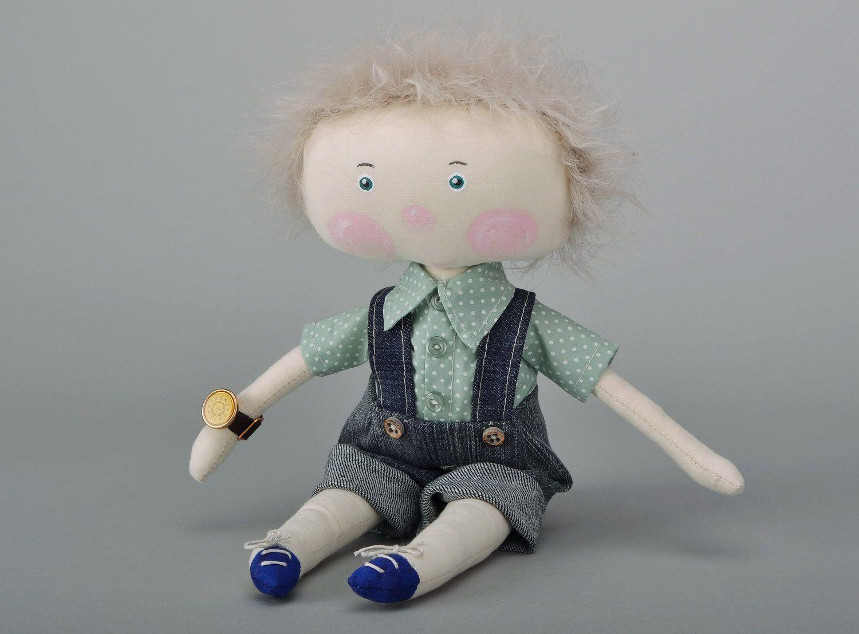 Handmade soft doll photo 3