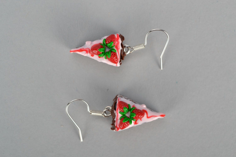 miniature earrings Homemade plastic earrings