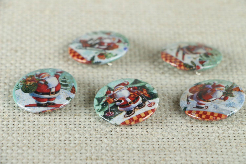 Set of Christmas badges photo 2
