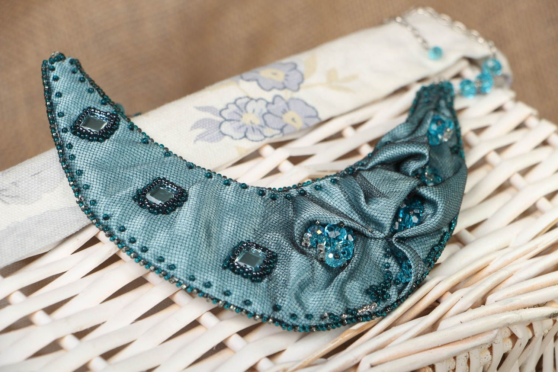 Handmade fabric necklace Rain Lover photo 4