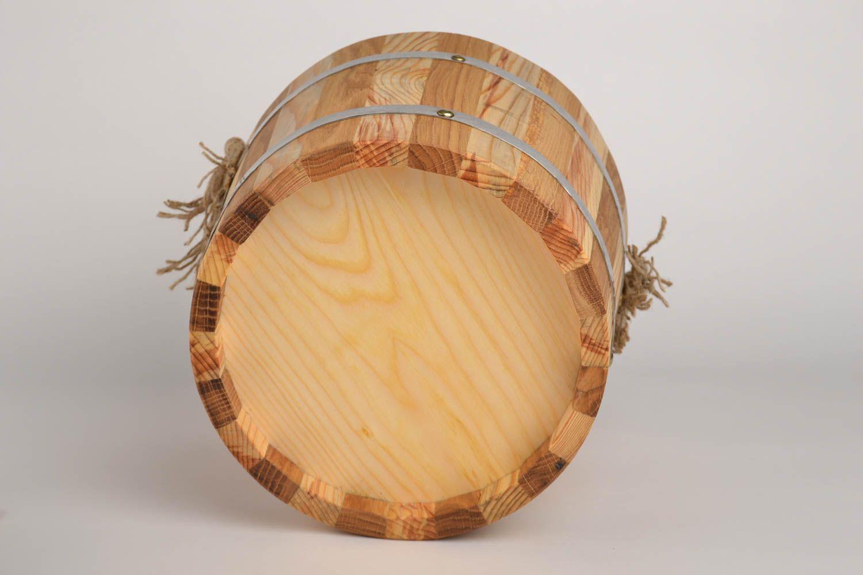 Handmade wood bucket for bath sauna accessories sauna bucket present for men photo 4