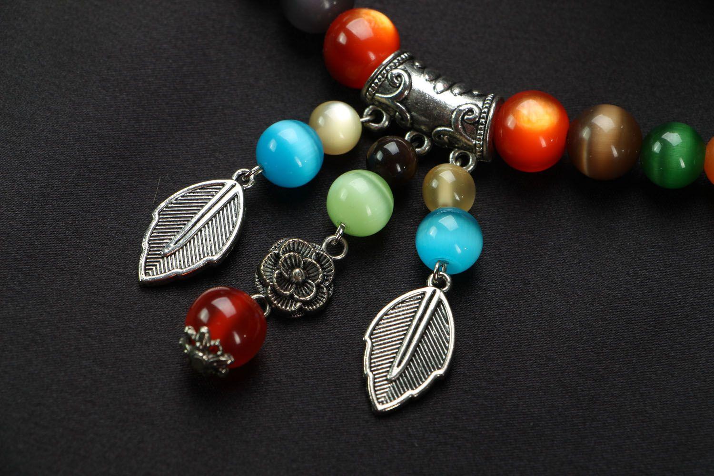 Jewelry set with cat's eye stone photo 5