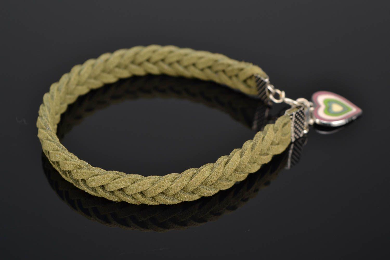 Woven suede bracelet for wrist photo 1