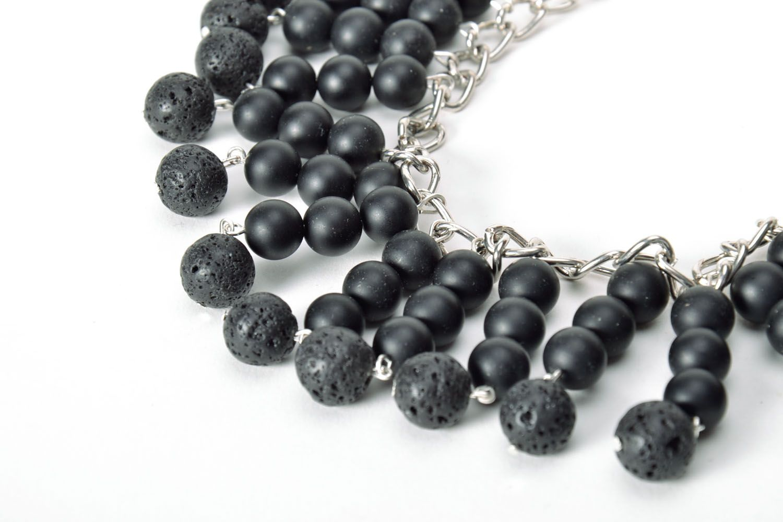 Black handmade necklace  photo 4