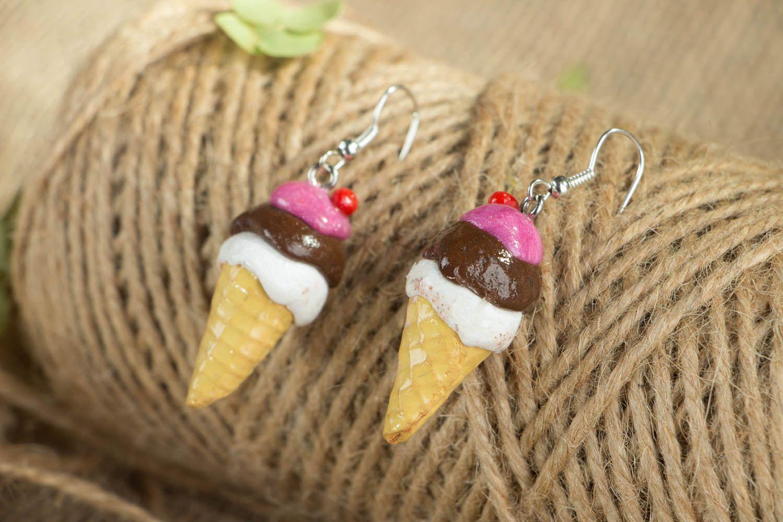miniature earrings Ice cream dangling earrings  - MADEheart.com