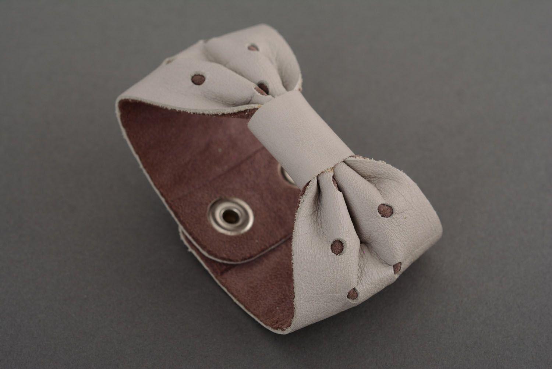 Женский браслет из кожи фото 4
