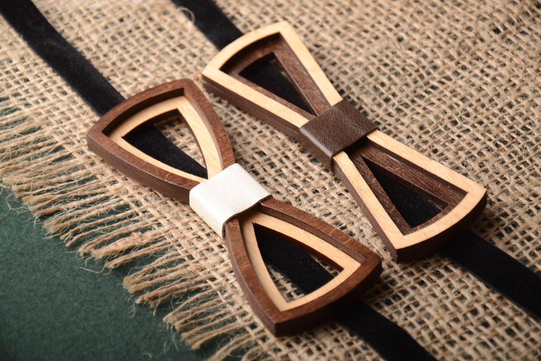 Бабочка-галстук из дерева своими руками 83