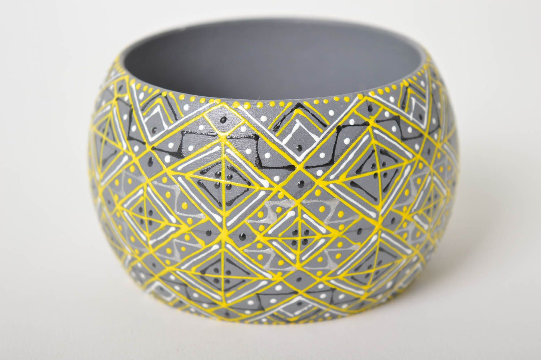 Handmade wooden cute accessory designer wrist bracelet elegant accessory photo 1