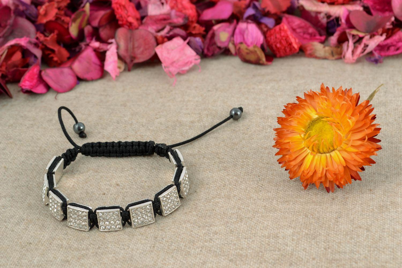 Designer bracelet with square beads photo 1