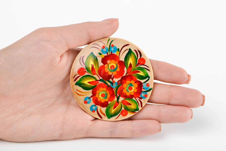Handmade fridge magnet souvenir ideas folk art wooden gifts refrigerator magnets photo 5