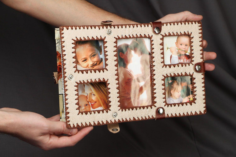 Leather photo frame photo 4