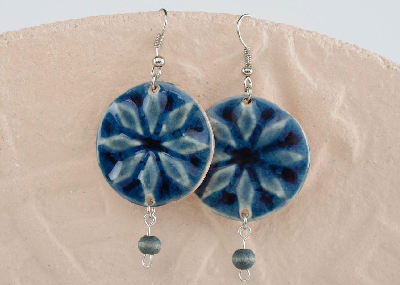 Keramik Ohrringe-Amulett Frauen Alatyr foto 6