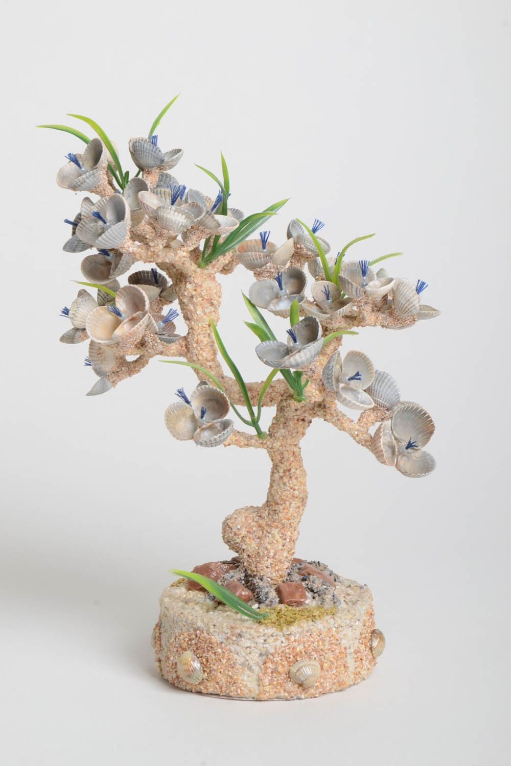 Handmade tree decoration tree composition with flowers table decor gift ideas photo 2
