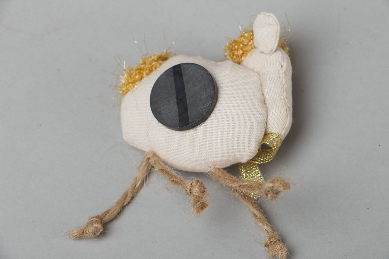 Fridge magnet made of yarn Lamb photo 3