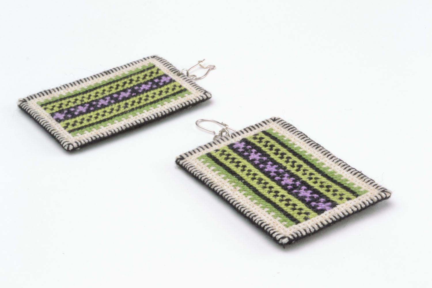 Earrings with embroidery photo 5