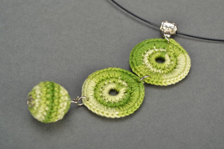 Crochet necklace Green photo 3