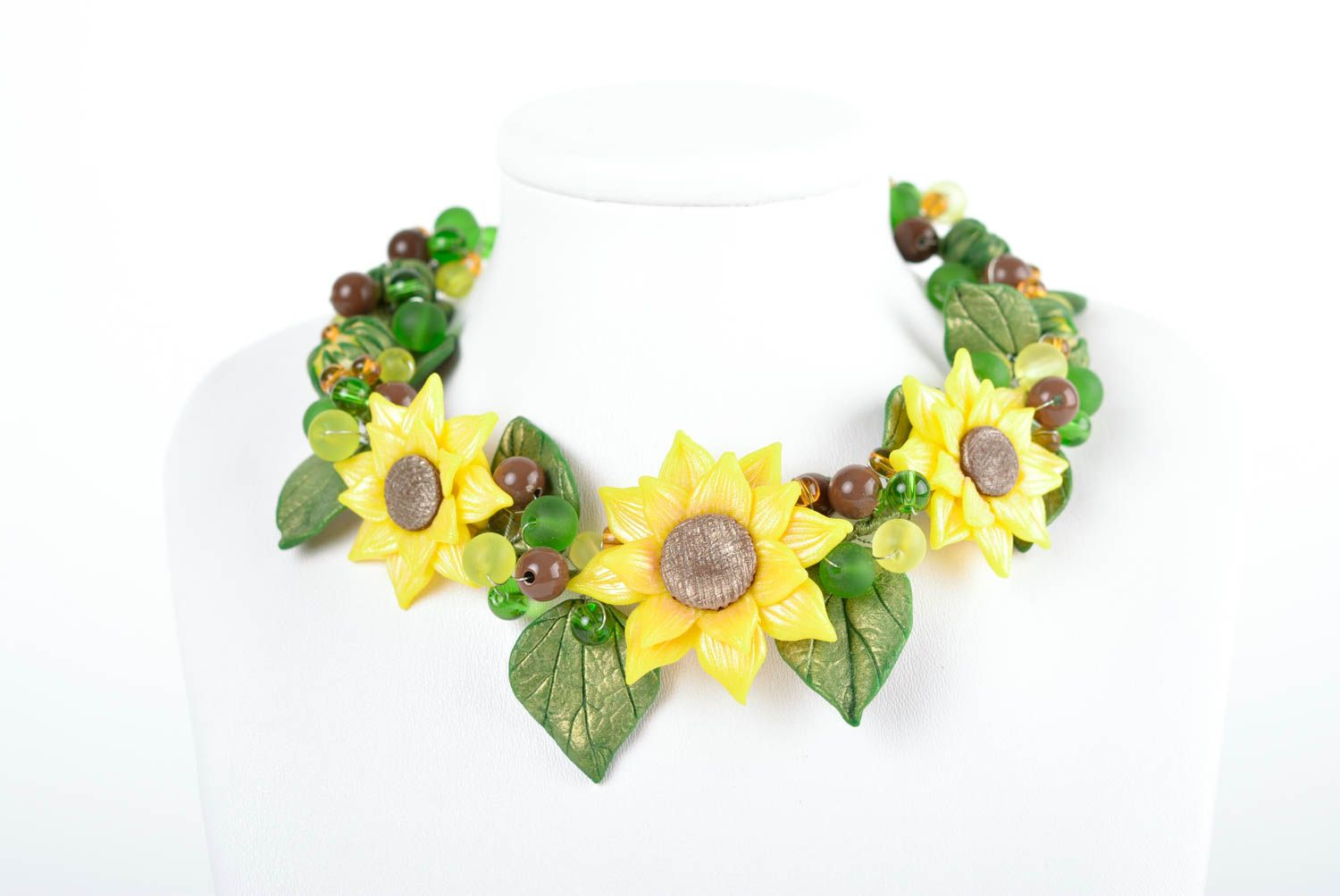 Beautiful flower jewelry set accessories in ethnic style handmade necklace photo 4