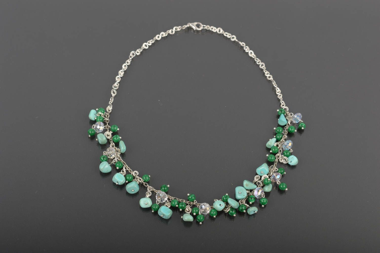 MADEHEART > Stylish handmade beaded necklace stone necklace designs ...