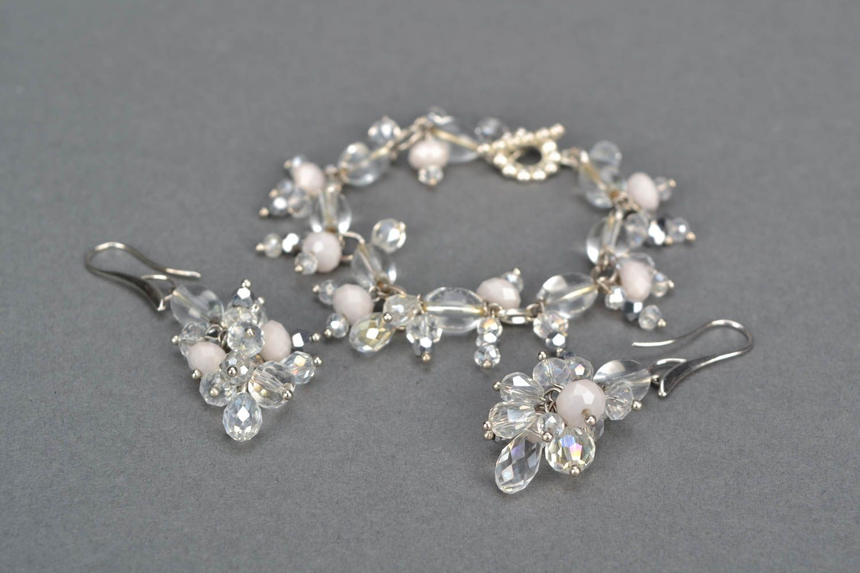 Jewelry set with plastic beads photo 4