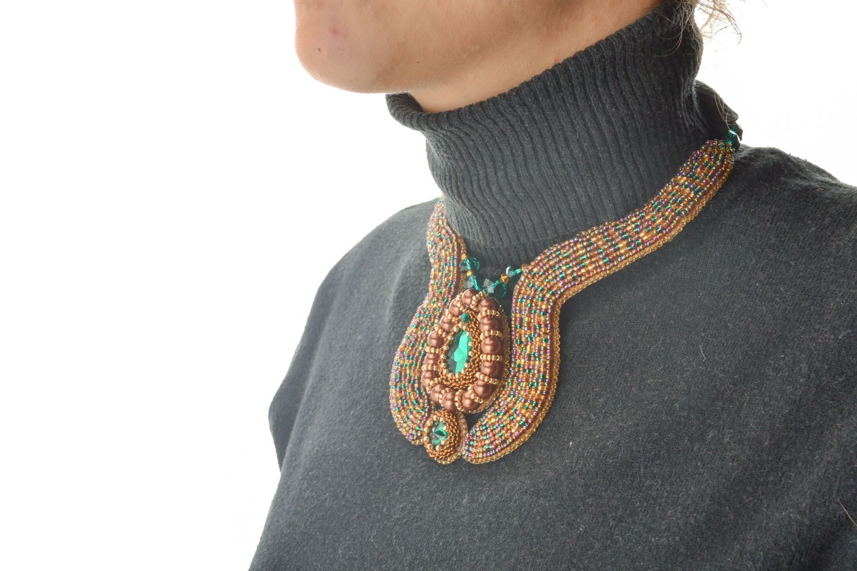 Beautiful beaded necklace photo 5
