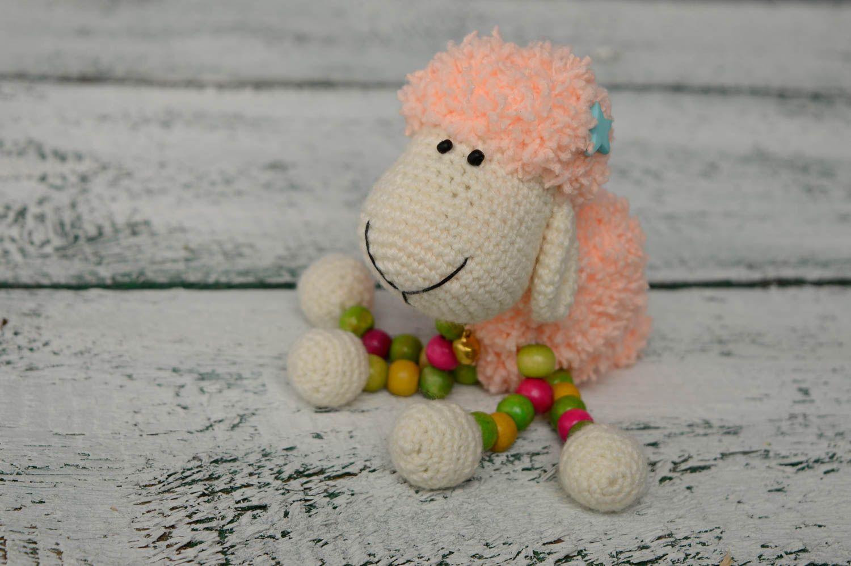 Juguete tejido con forma de oveja foto 5