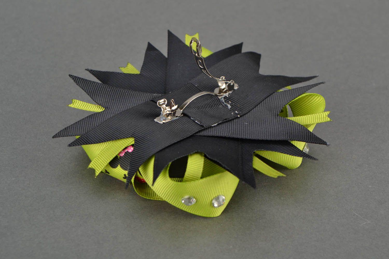 Hair clip made of ribbons photo 3