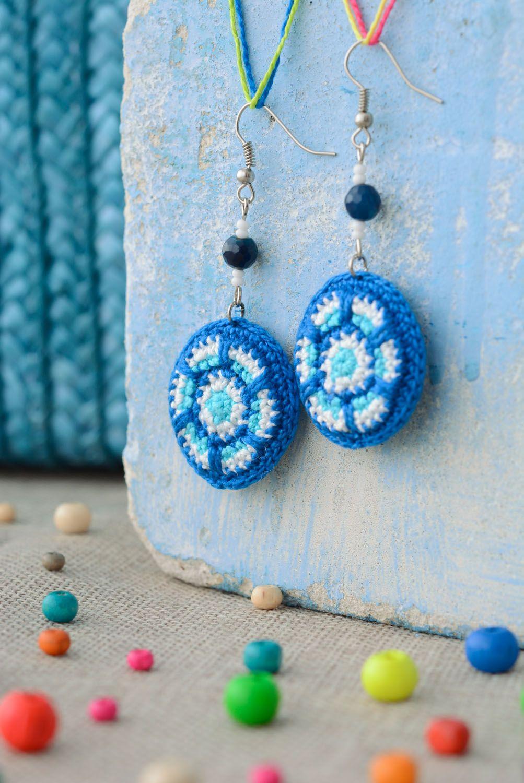 Stylish crochet earrings photo 1