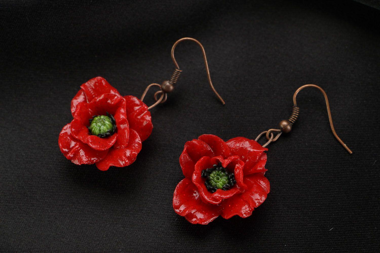 Earrings Poppies photo 1