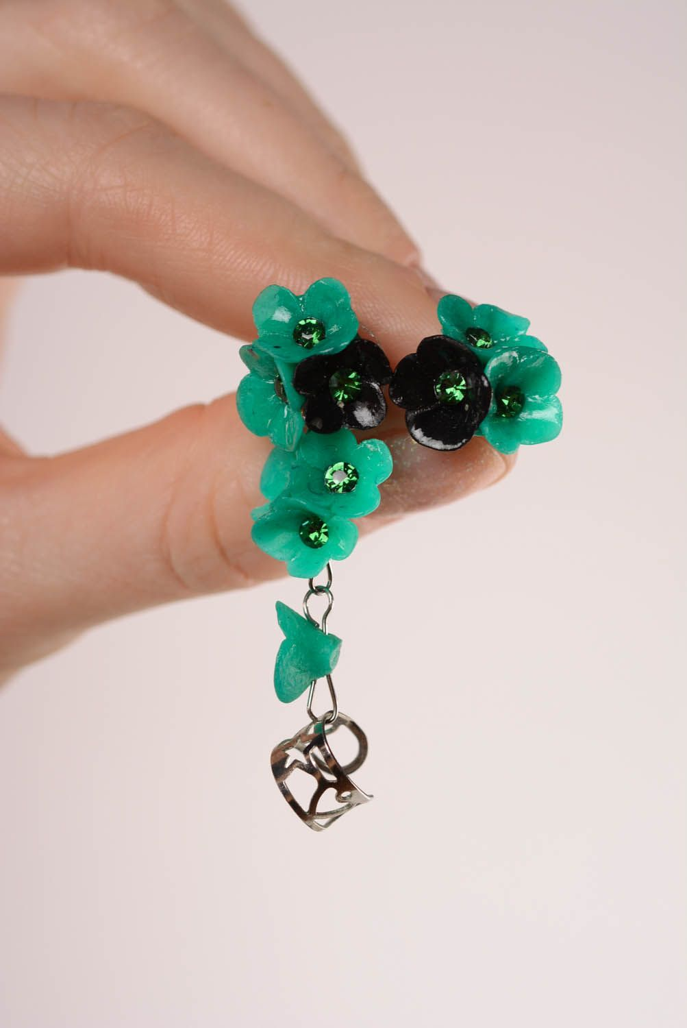 Green cuff earrings Oblivion photo 4