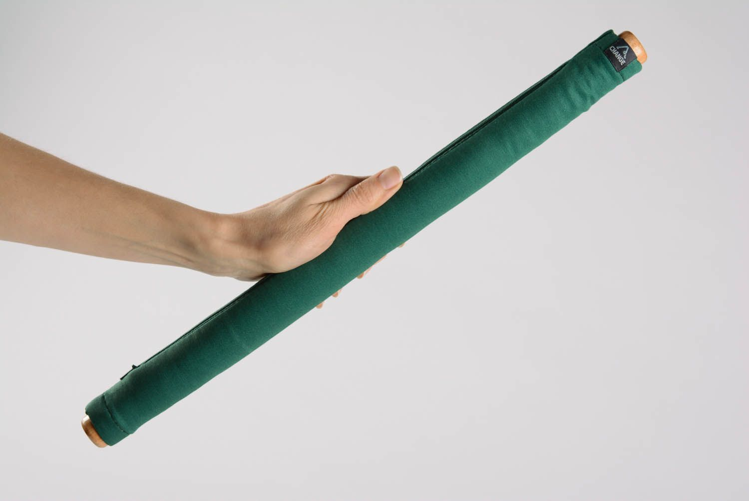 Wooden stick for yoga practice in soft case photo 2