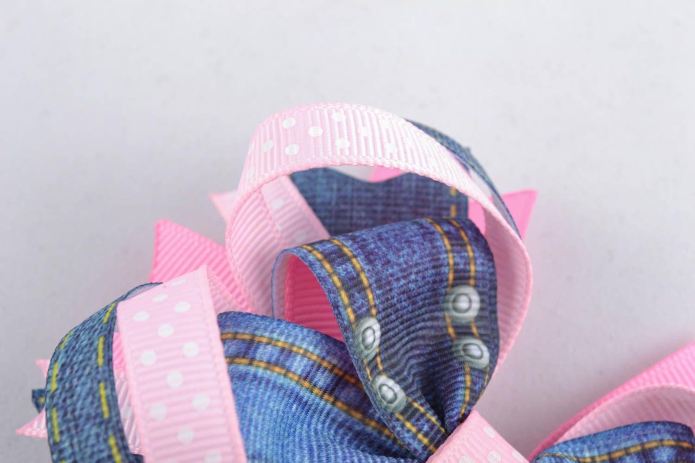 Handmade hair clip Bow photo 3