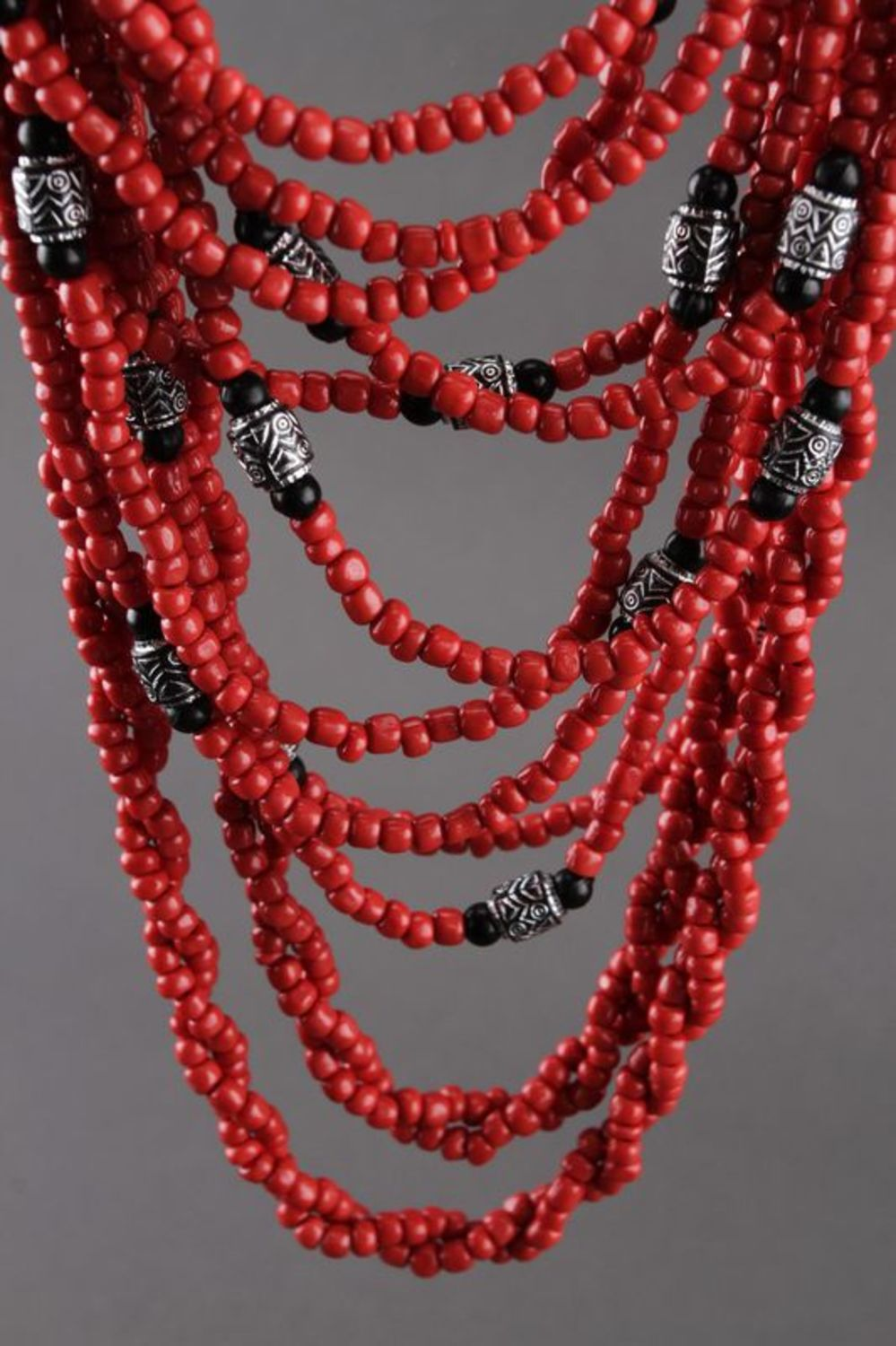 Multi row beaded necklace  photo 1