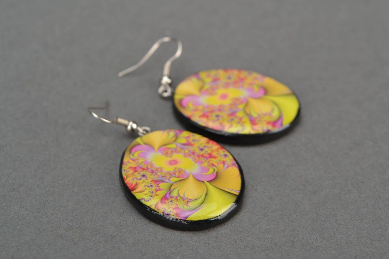 Round designer earrings  photo 5