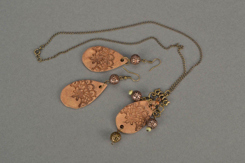Set of clay jewelry Ethnic photo 3