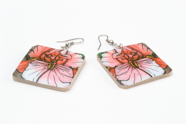 Ohrringe mit Blumen foto 3